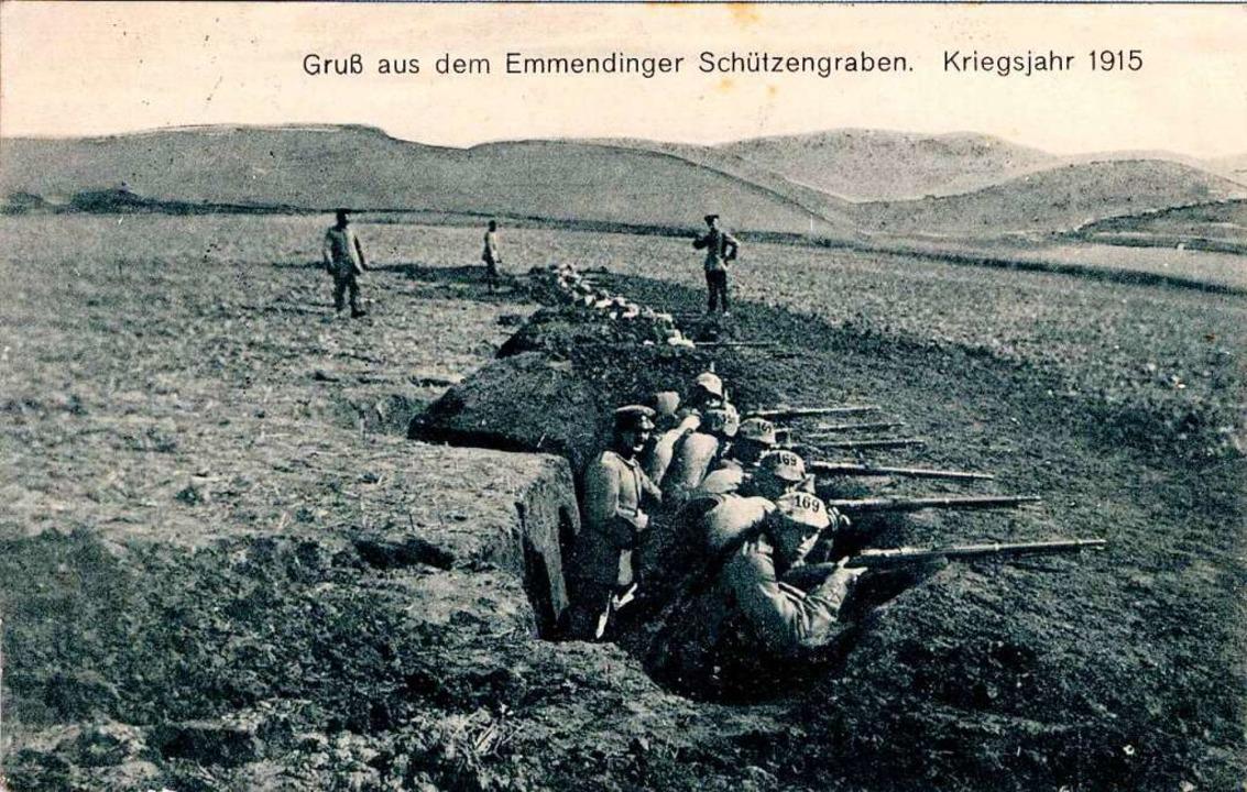 Auch ein Gruß aus dem Emmendinger Schü...tkartensammlung von Hertel und Dilger.    Foto: Johannes Dilger