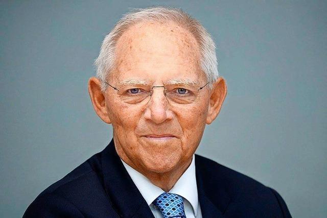 Wolfgang Schäuble von der CDU stellt sich dem BZ-Fragenwirbel