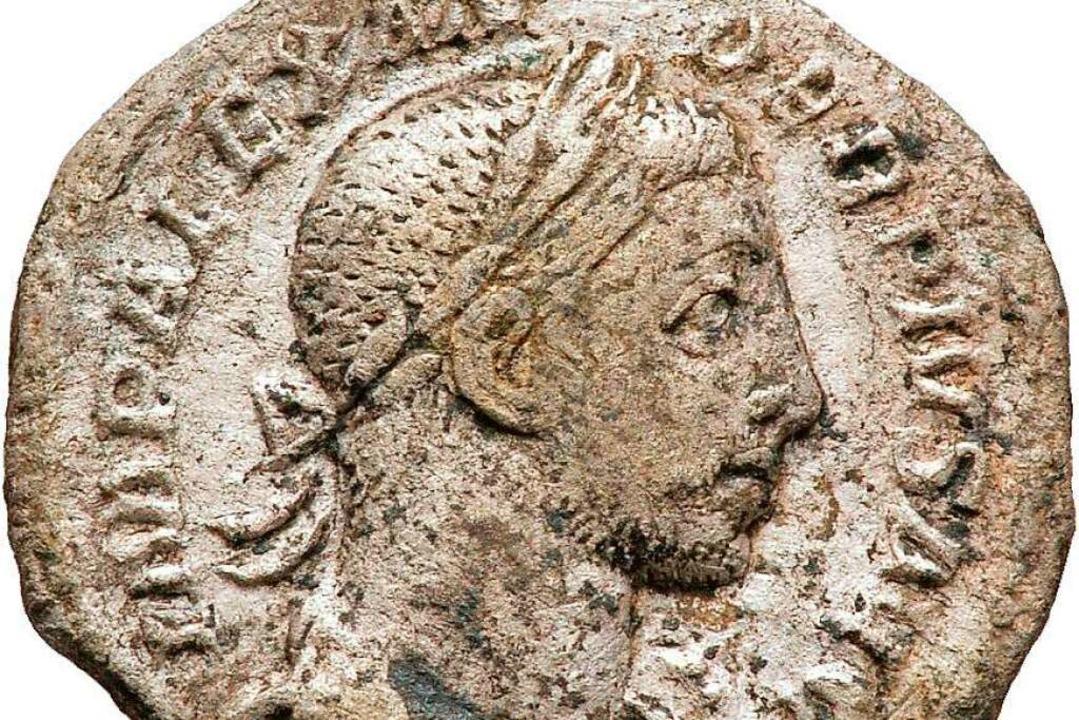 Denar des Severus Alexander (231–235 n. Chr.)    Foto: Tonofenfabrik