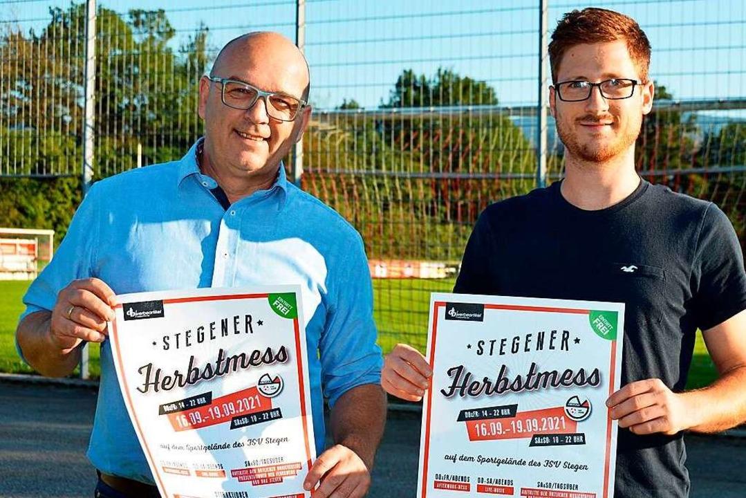 Bernd Wißler und Robin Schlegel vom FS...r an den vier Herbstmess'-Tagen.  | Foto: Gerhard Lück