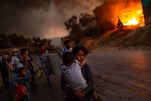 Vor einem Jahr zerstörte ein Feuer das Geflüchtetenlager Moria auf Lesbos
