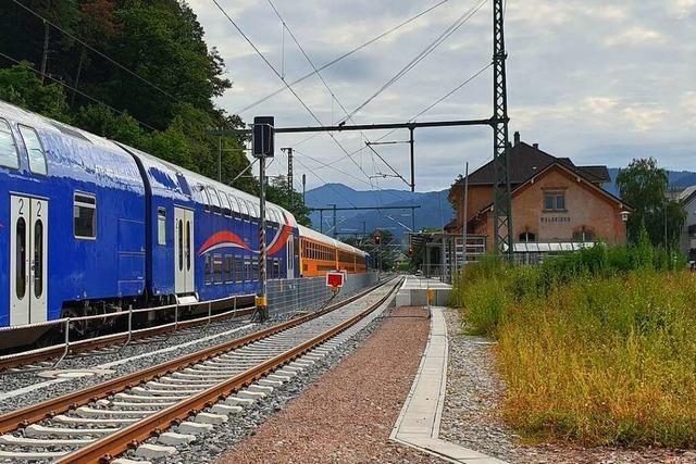 Auch der Bahnsteig 1 in Waldkirch wird erst im November fertig
