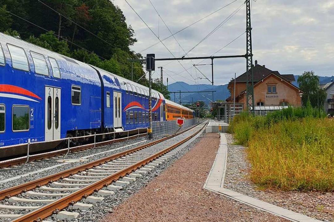 Ungenutzt ist der Bahnsteig 1  bisher, die Elztalbahn fährt nur auf Gleis 2.    Foto: Theresa Steudel