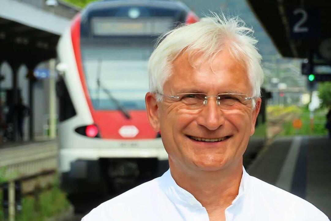 Gerhard Zickenheiner hält den S-Bahn-H...entralklinikum schon 2025 für möglich.  | Foto: Peter Gerigk