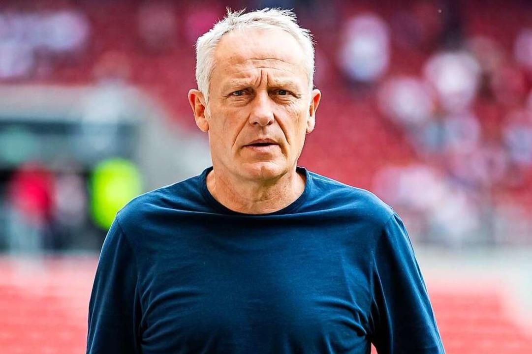 SC-Trainer Christian Streich freut sic...zwaldstadion schwer, sagt er im Video.    Foto: Tom Weller (dpa)