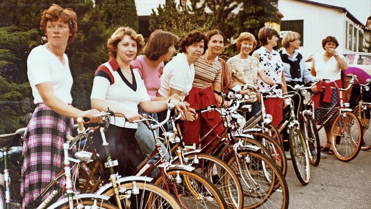 Fahrradtouren gehören zum Jahresprogra...ner, Ursula Kaiser und Jutta Rebmann.     Foto: