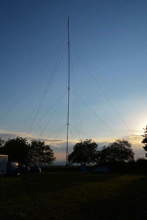 Mit der Antenne am Attilafelsen wurden Kontakte in die ganze Welt hergestellt.    Foto: Horst Garbe
