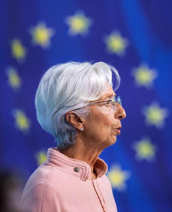 EZB-Chefin Christine Lagarde    Foto: Boris Roessler (dpa)