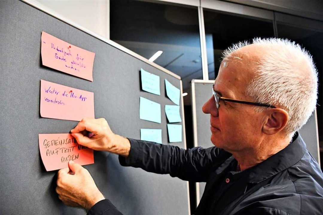 Beim Gedankenaustausch von Pro Lörrach wurden viele Wünsche formuliert.  | Foto: Barbara Ruda
