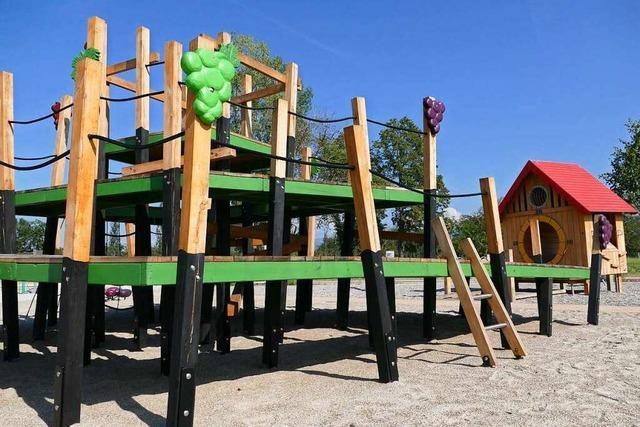 So sieht der neue Spielplatz auf der Landesgartenschau in Neuenburg aus