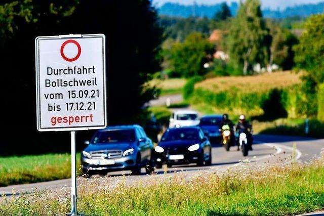 L 122 wird ab Mittwoch in Bollschweil gesperrt – Umfahrung über Schallstadt
