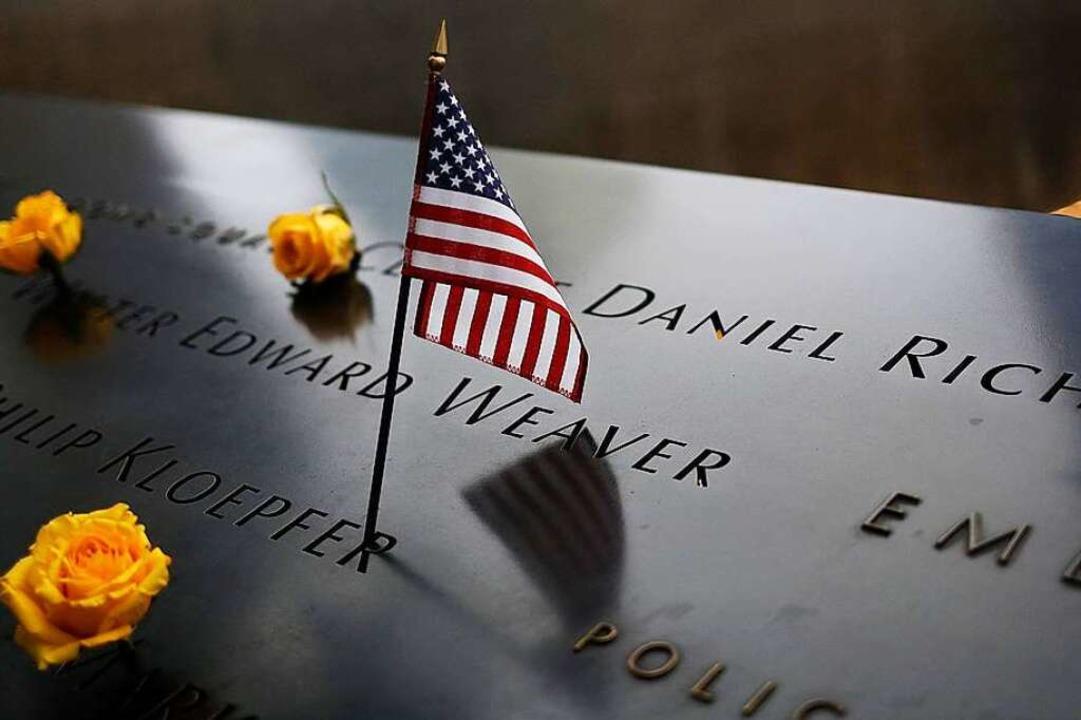 Auch nach Jahren herrscht am 9/11-Memorial in New York Entsetzen und Trauer.    Foto: John Taggart