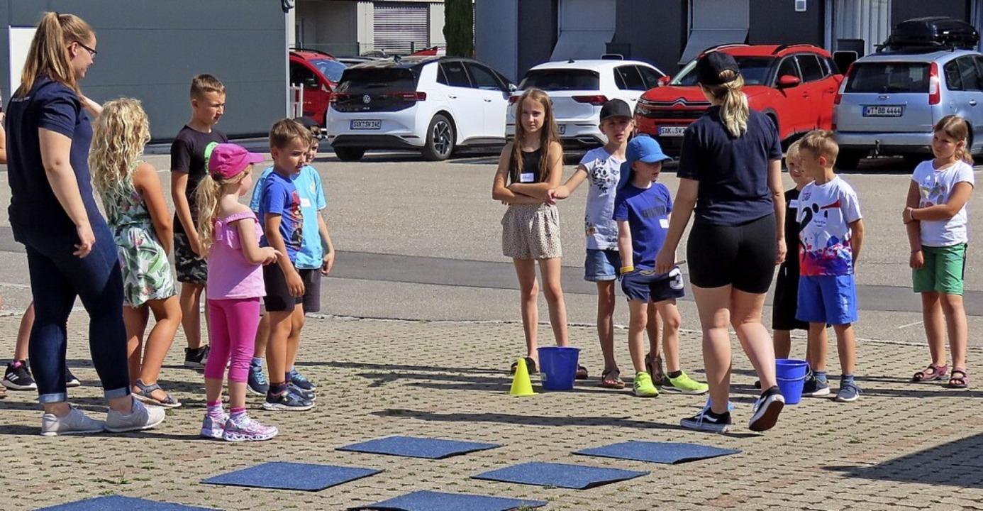 Unterschiedliche Spiele bot der Parcou...ke Bad Säckingen  vorbereitet hatten.   | Foto: Gerd Leutenecker