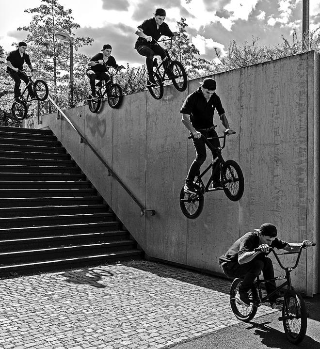 Was Marius Dietsche mit seinem BMX-Rad...ür ihn ebenso Berufung wie sein Beruf.    Foto: privat