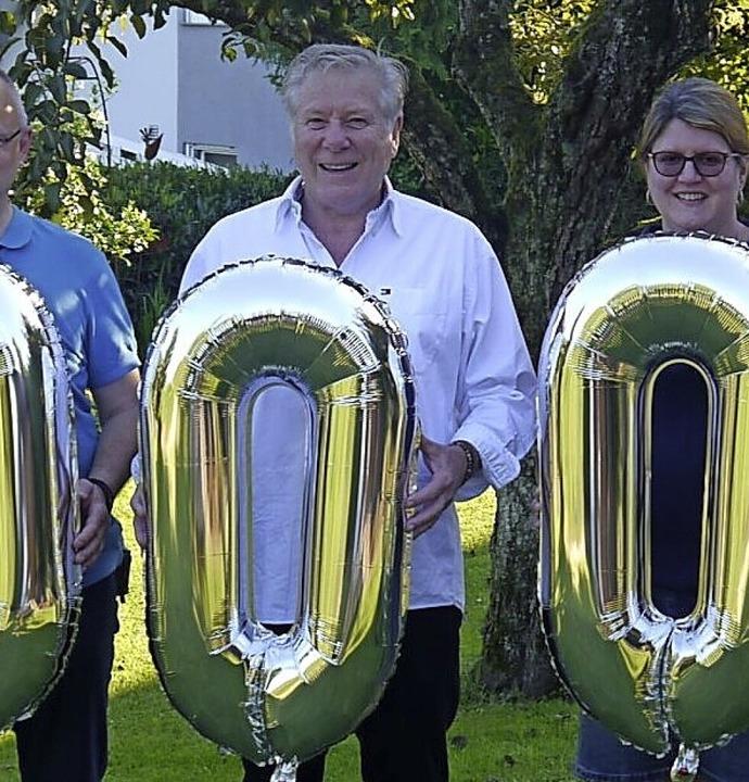 Jess Haberer wurde für  10000 Tagen Stadtkapellenvorsitz geehrt.  | Foto: Stadtkapelle, Volker Hering