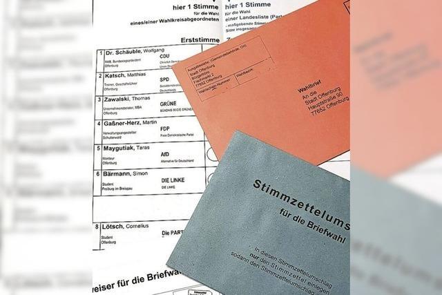 So funktioniert Briefwahl in Offenburg