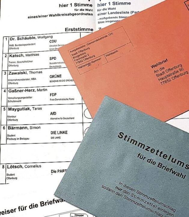 Briefwahlunterlagen  | Foto: Stadt Offenburg