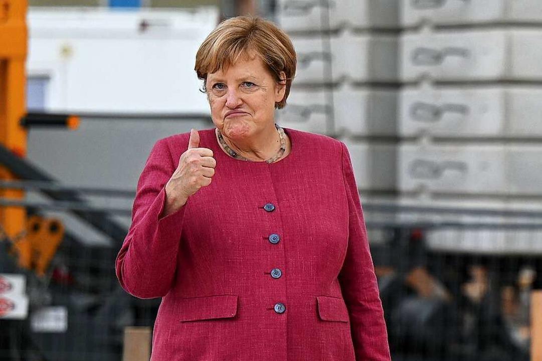Übt Angela Merkel schon mal für den Ruhestand?  | Foto: Monika Skolimowska (dpa)