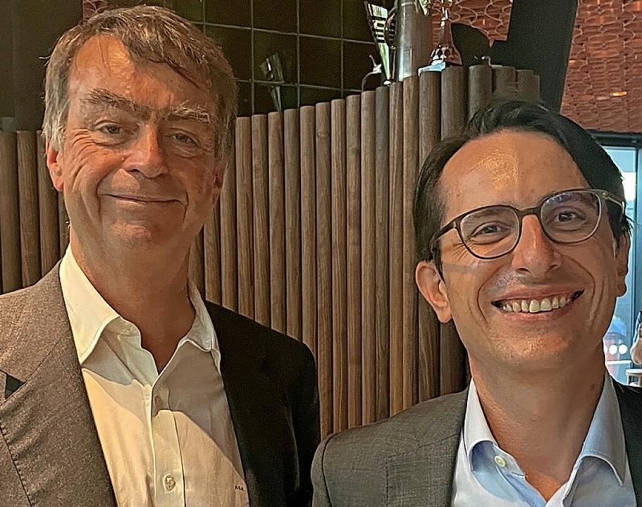 André Hoffmann (links) und  Jörg Duschmalé    Foto: Roche