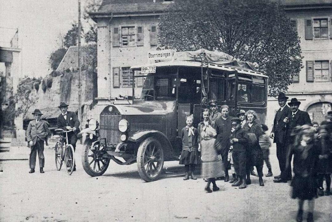 Im Opfinger Ortskern entstand diese Aufnahme am 1. April 1927.  | Foto: privat