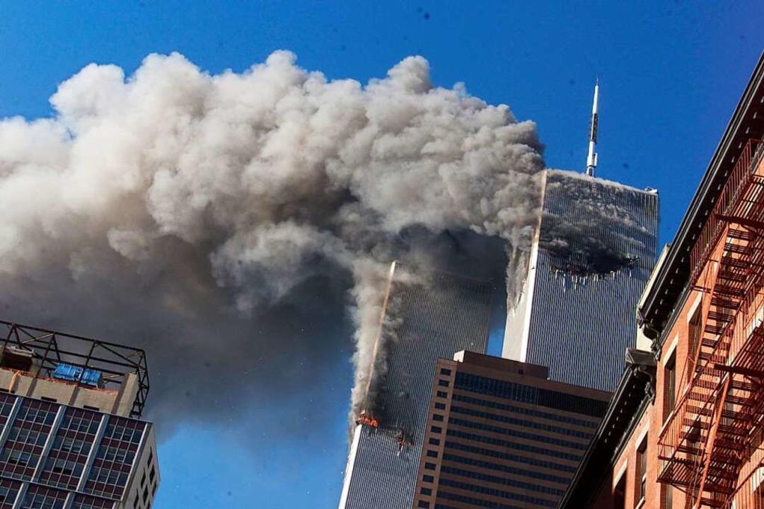 11. September in Manhattan/New York: R...die Türme in Manhattan geflogen sind.     Foto: Richard Drew (dpa)