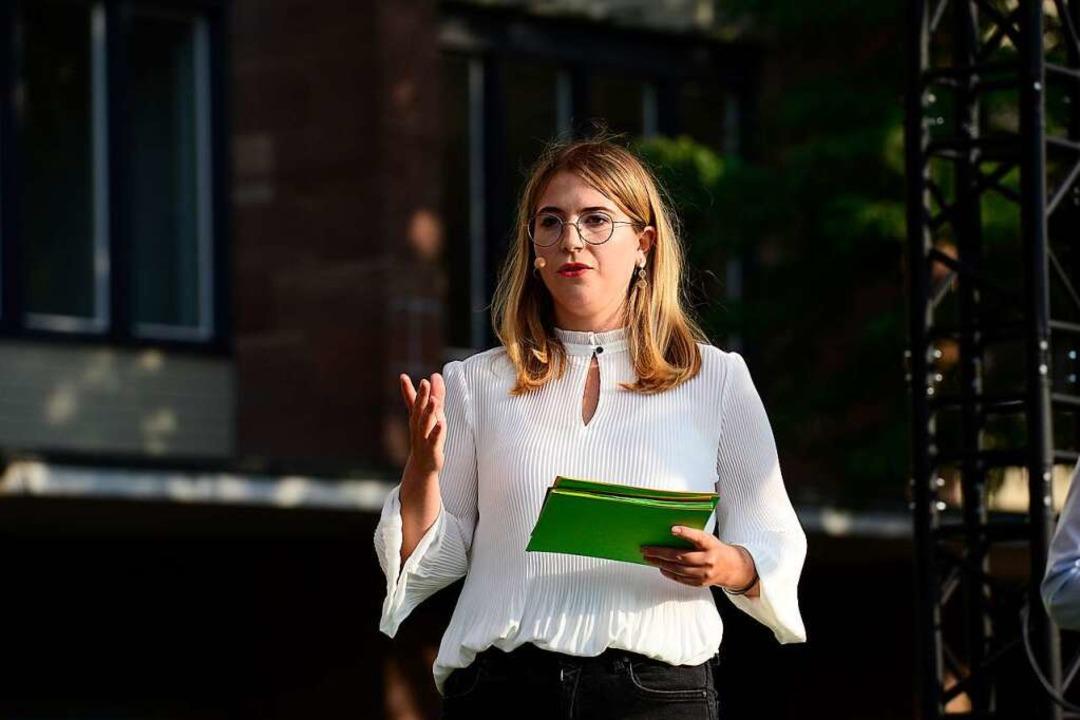 Chantal Kopf, die Bundestagskandidatin... Freiburg, hofft auf das Direktmandat.  | Foto: Ingo Schneider