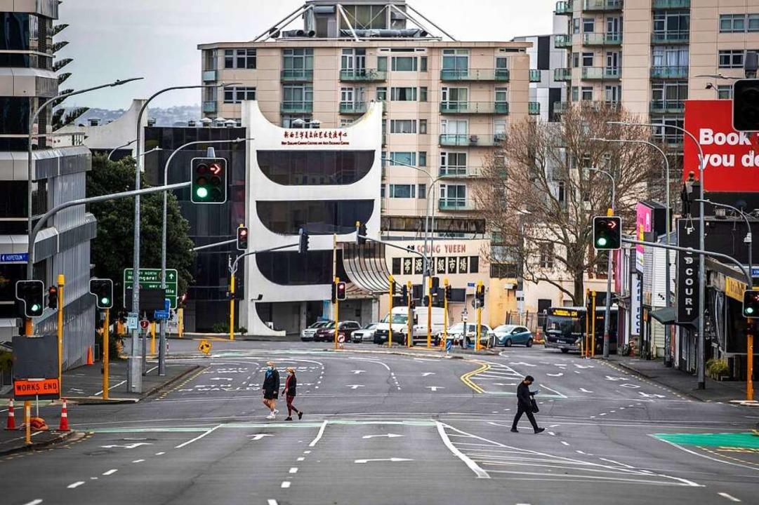 Die meisten Neuseeländer stehen zu Cor.... Der Lockdown findet viel Zustimmung.  | Foto: Michael Craig (dpa)
