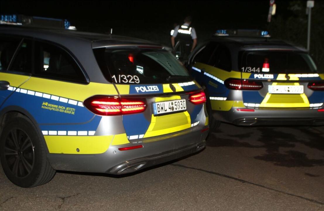 Einsatz der Polizei im Sulzer Wald  | Foto: Heidi Fößel
