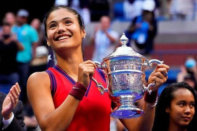 18 Jährige gewinnt US Open in New York – als erste Qualifikantin in der Geschichte