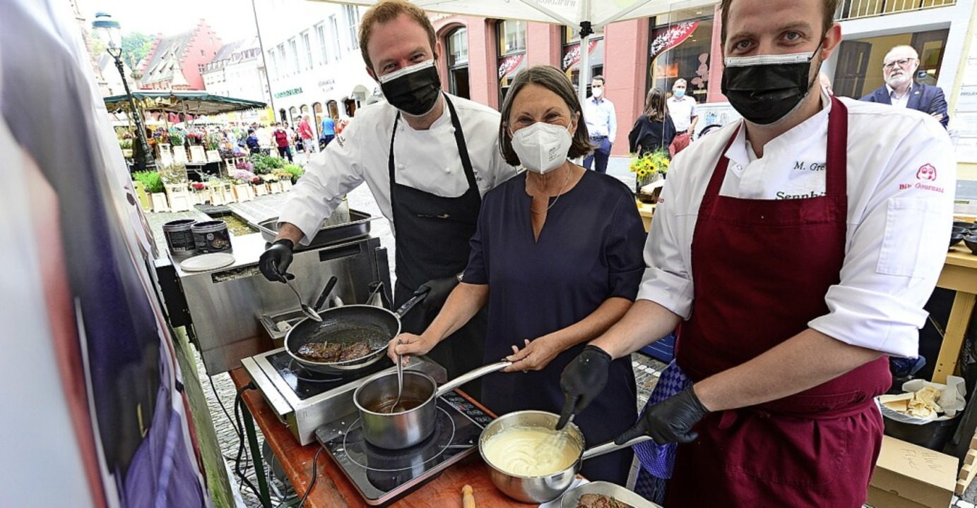 Für die Kulinarischen Hinterwälder Woc...upfer ( links) und Maximilian Grether.    Foto: Ingo Schneider
