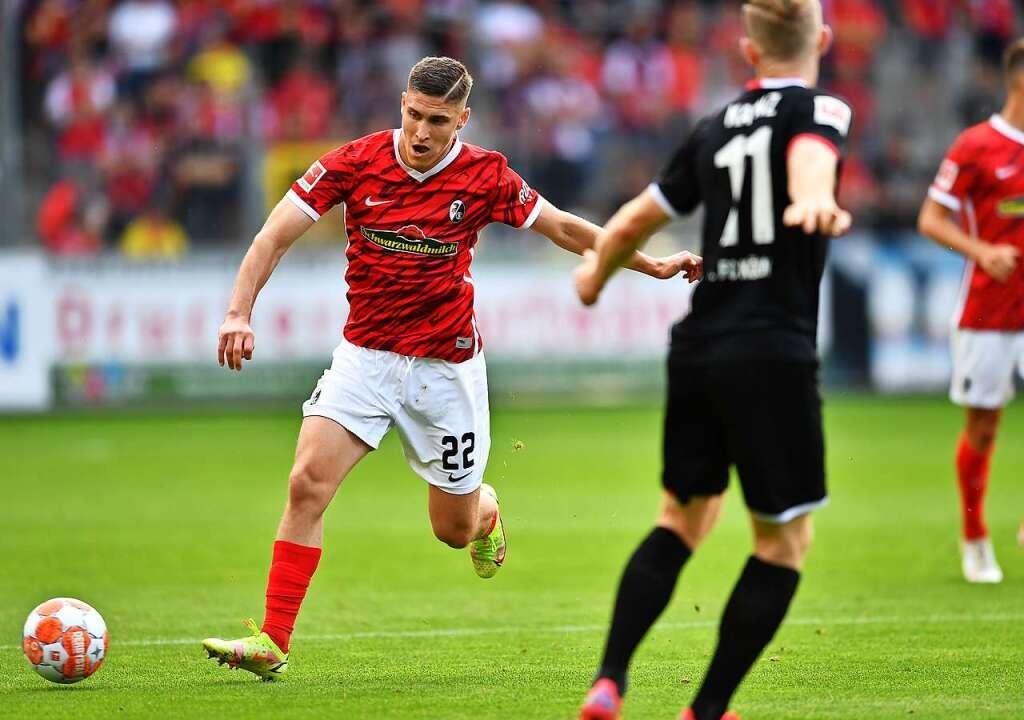 Roland Sallai vom SC Freiburg gegen Köln  | Foto: Achim Keller