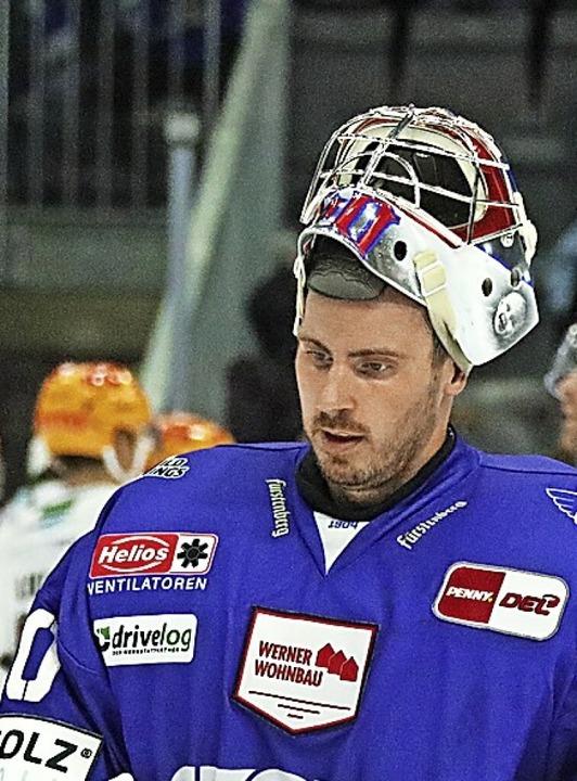 Enttäuscht: Torhüter Eriksson konnte die 3:4-Niederlage nicht verhindern.    Foto: Joachim Hahne