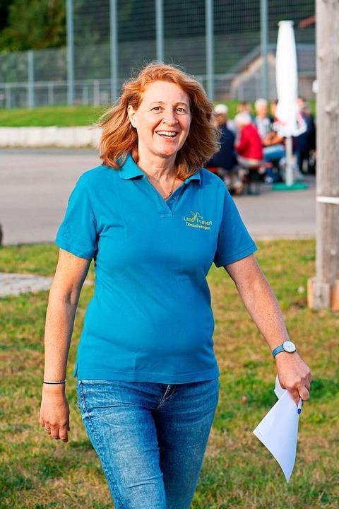 Alexandra Fluck - eine von drei Vorsit... geklappt beim 1. Kleinkunst-Festival.  | Foto: Wolfgang Scheu