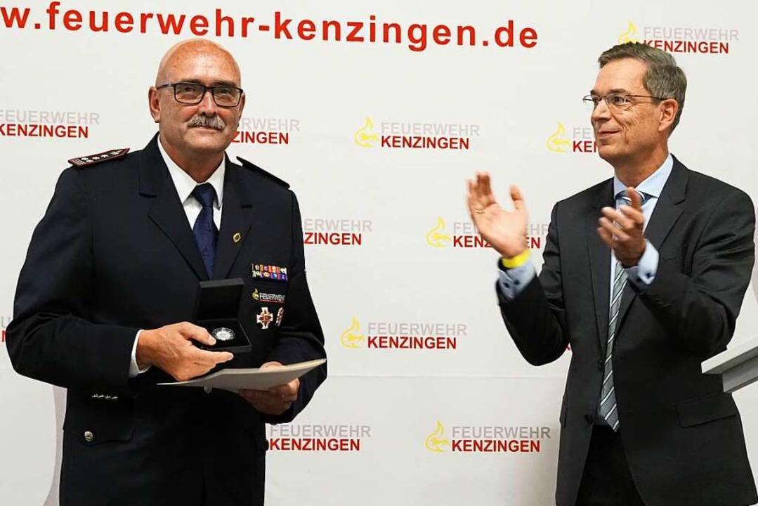 Anerkennung für große Leistung über Ja...chmann  die Staufermedaille verliehen.  | Foto: Michael Haberer