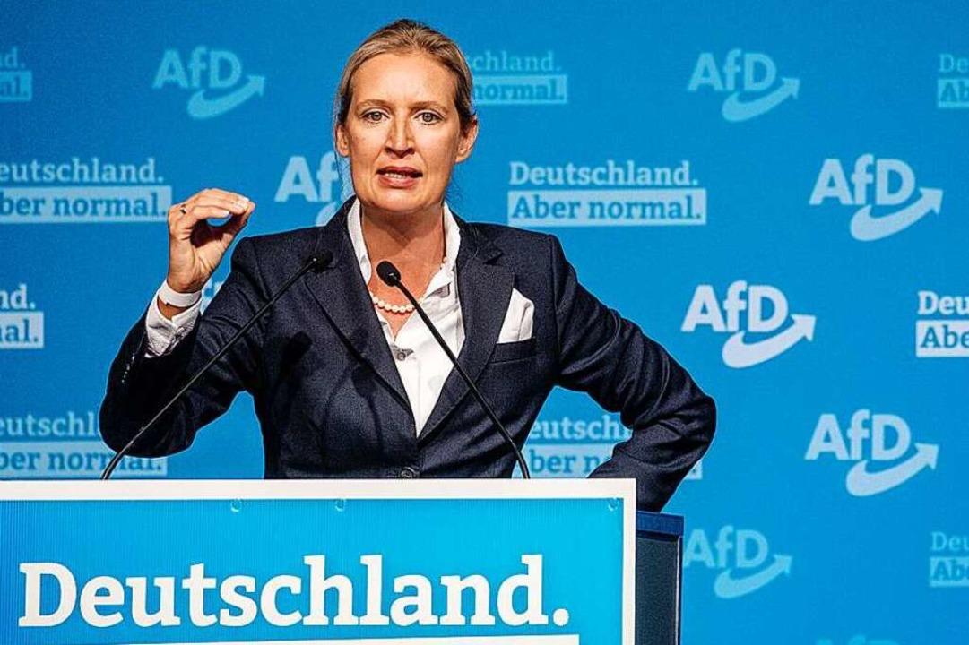 Alice Weidel beim Landesparteitag der AfD in Stuttgart vergangenes Wochenende  | Foto: Christoph Schmidt (dpa)