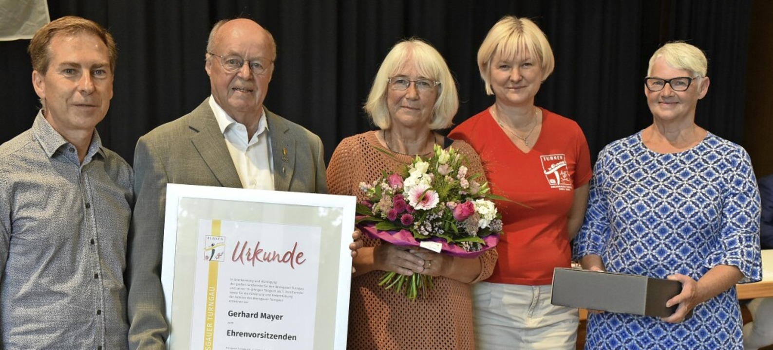 Die neue und die alte Führungsriege de...den, Diana Graner und Dorothea Reymann  | Foto: Benedikt Sommer