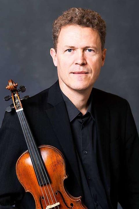 War Violinsolist beim Festkonzert: Gottfried von der Goltz  | Foto: Foppe Schut