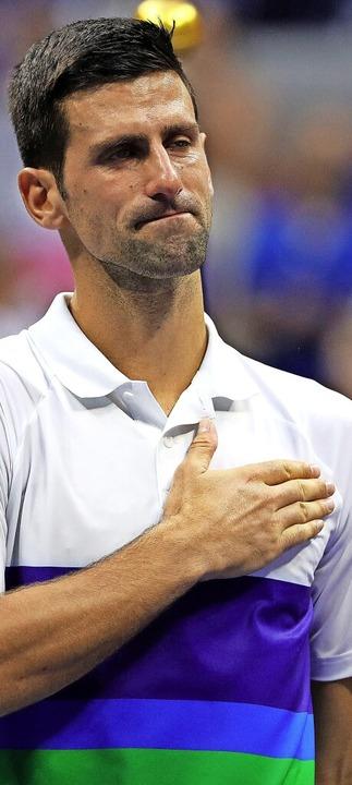 Von Herzen gerührt: Novak Djokovic  | Foto: KENA BETANCUR (AFP)