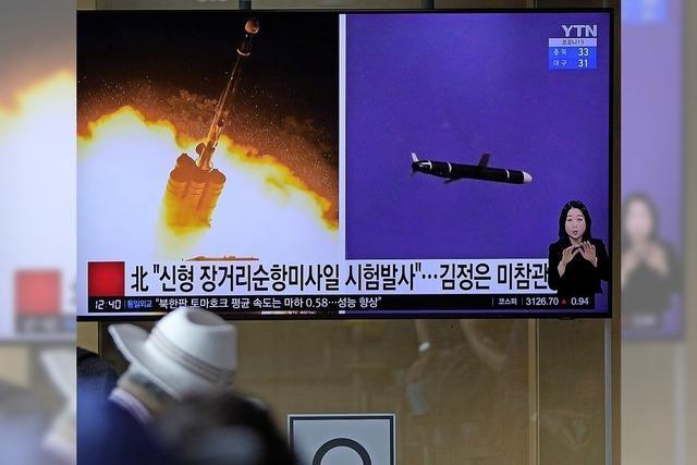 Kim Jong-un lässt Marschflugkörper testen