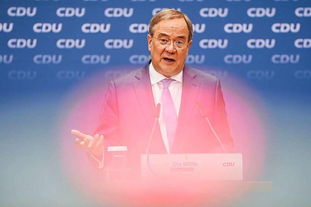 Unions-Kanzlerkandidat Armin Laschet    Foto: Kay Nietfeld (dpa)