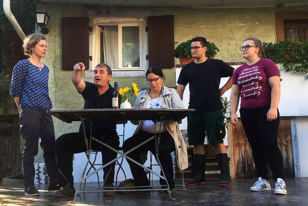 Szenen vom Open-Air-Theater in Offnadingen  | Foto: Mario Schöneberg