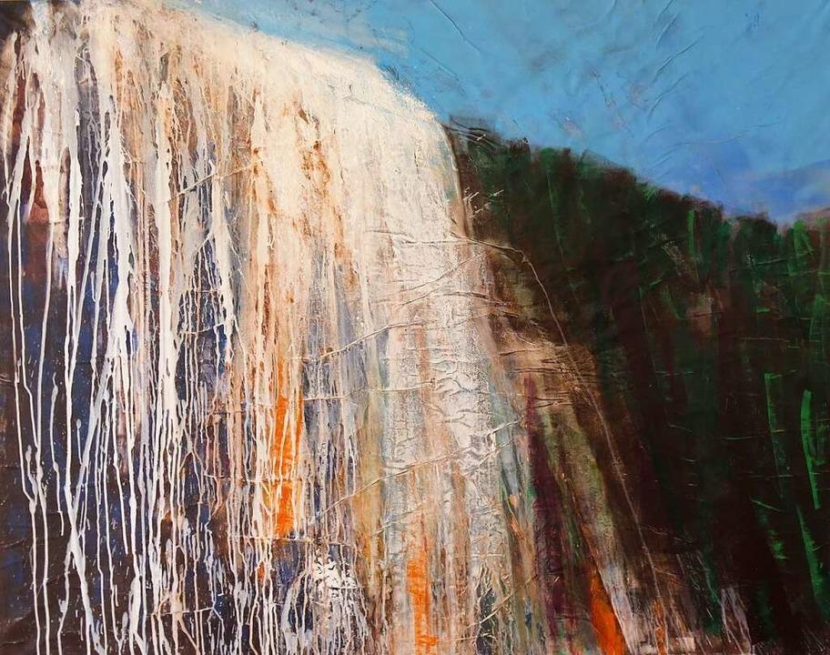 Wasserfall von Hanne Günther  | Foto: Georg Voß
