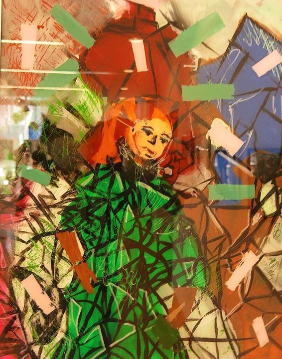 Frau im grünen Kleid von Sybille Odenthal  | Foto: Georg Voß