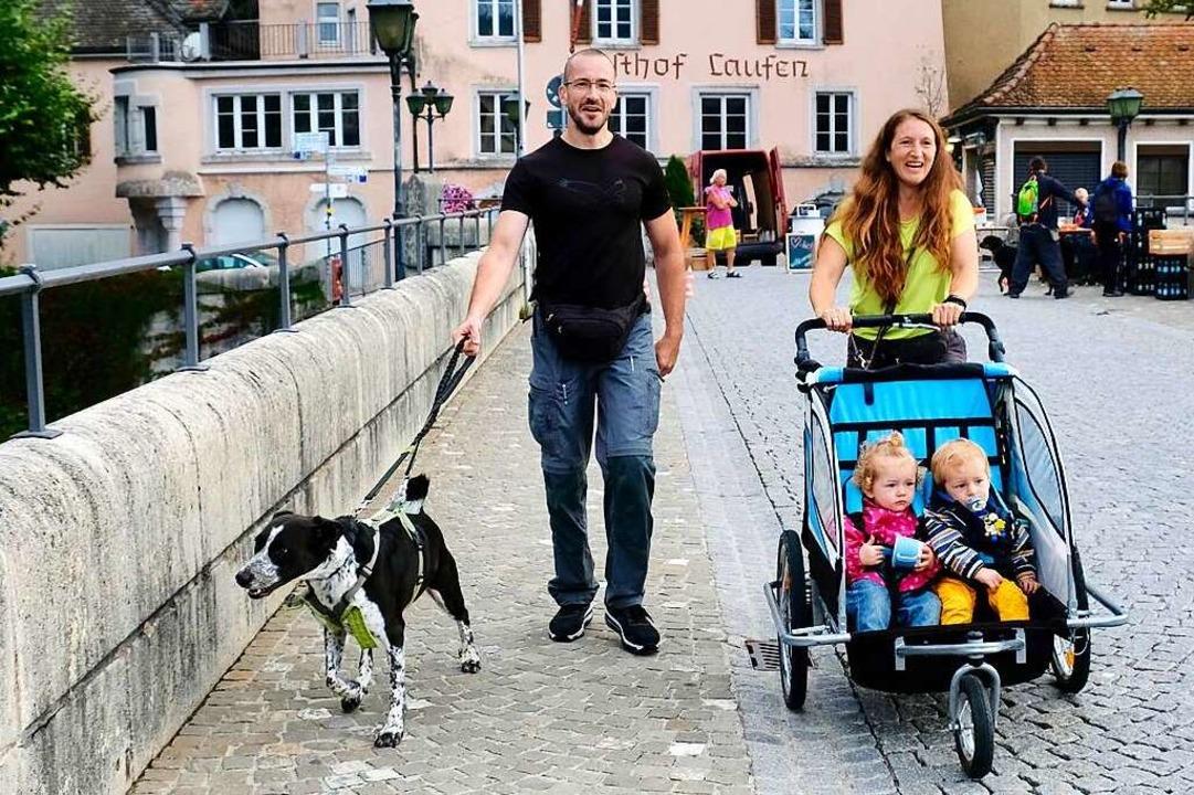 Auch diese Familie macht sich am 11. S...und auf den Weg und ist hochmotiviert.  | Foto: Andrea Worthmann