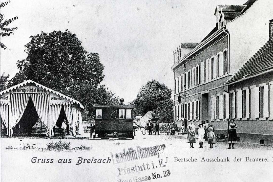 Die Brauerei Bercher in der Kupfertors...saß eine  Mini-Dampflok, Baujahr 1877.  | Foto: Matthias Lentz