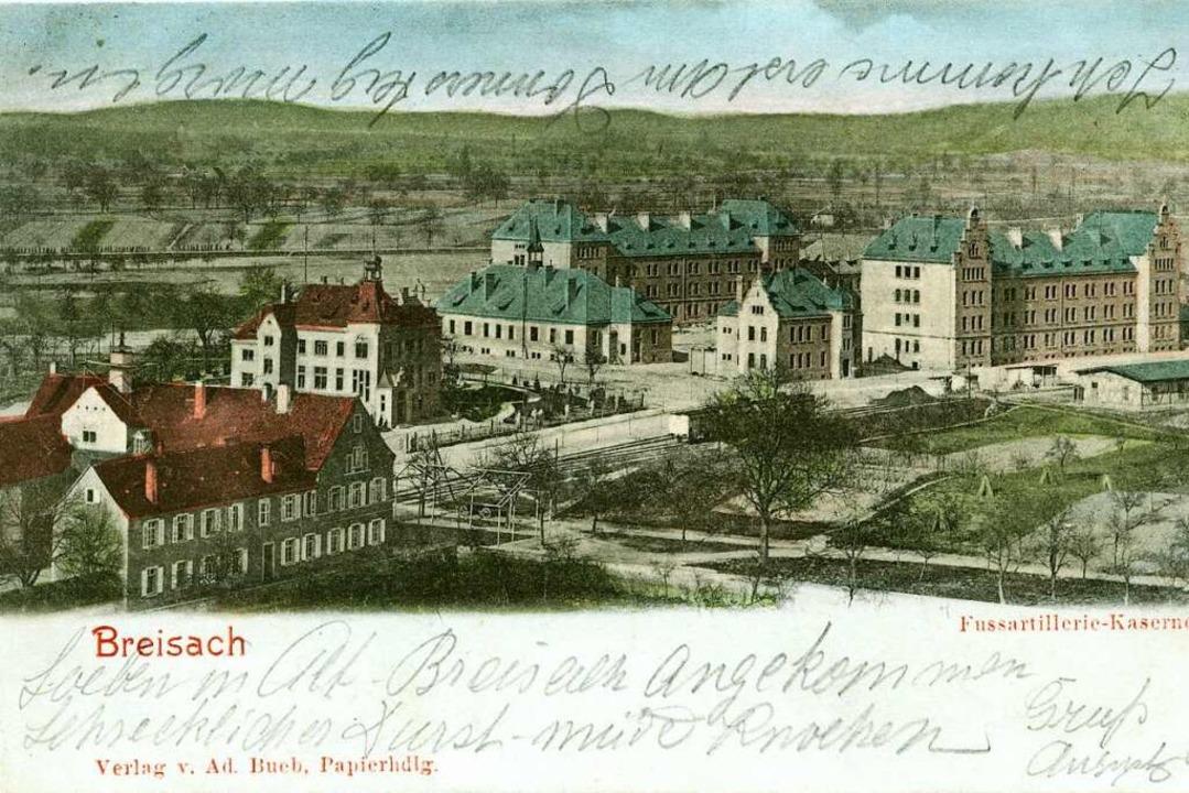 Die Brauerei Bercher (links) um 1900 m....  Recht die Kaserne (heute Wohnungen)  | Foto: Sammlung Rainer Humbach