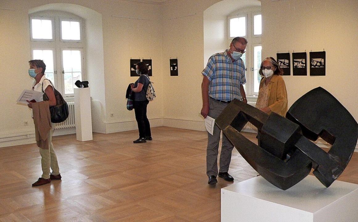 Blick in einen der Ausstellungsräume i...on Maria Fröhlich-Knorr und Jörg Bach.    Foto: