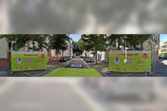 Die erste Fahrradstraße Offenburgs