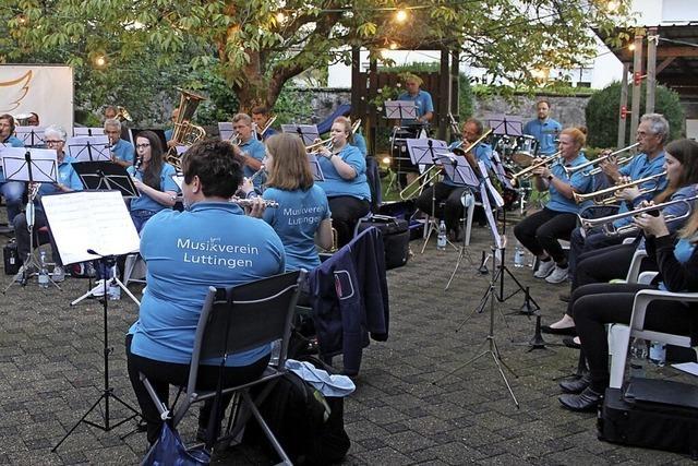 Musikverein Luttingen tritt öffentlich auf