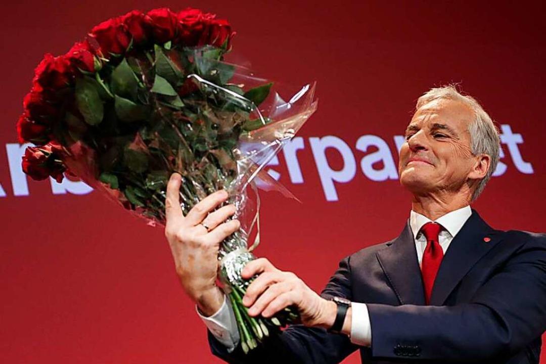 Wahlsieger Jonas Gahr Støre  | Foto: Heiko Junge (dpa)